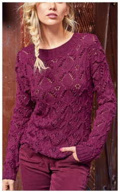 PURPLE PATTERNED KNITTED SWEATER