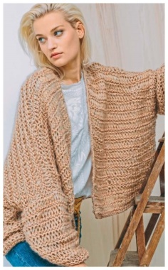 LARGE KNIT VOLUME JACKET