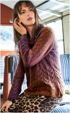 KNITTED PULLOVER WITH KNITTING PATTERN