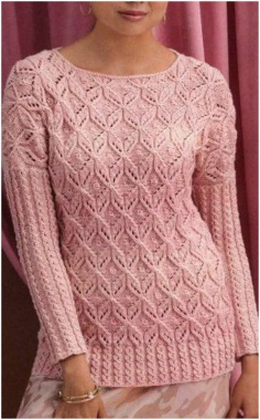WOMENS OPENWORK PULLOVER IN VINTAGE STYLE