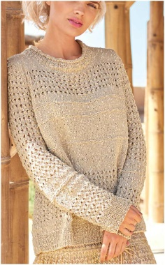 BEIGE PATTERNED SWEATER