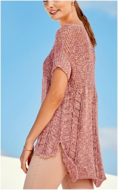 BACK LONG KNITTED SWEATER