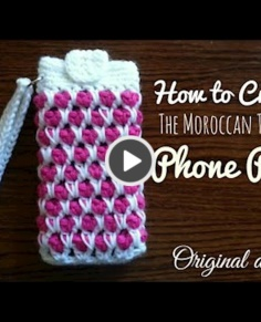 the Moroccan Tile Stitch Phone Pouch