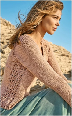 PULLOVER WITH OPENWORK SIDE INSERT