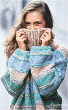 PASTEL COLORED OVERSIZE SWEATER