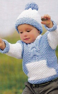 BABY BLUE SWEATER AND HAT