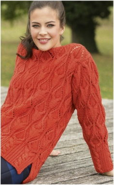 KNITTING ORANGE SWEATER