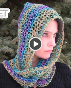 Luxe Hooded Scarf crochet