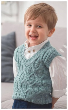 BLUE VEST FOR BOYS
