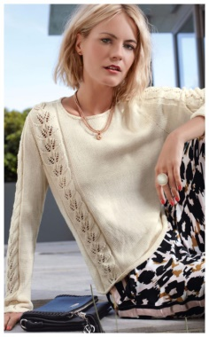 JUMPER WITH OPENWORK KNITTING NEEDLES