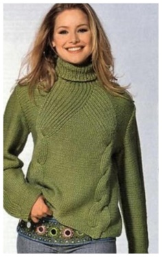 A SWEATER WITH BRAIDS