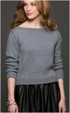 GREY KNITTING PULLOVER