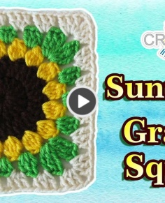 Sunflower Granny Square Pattern