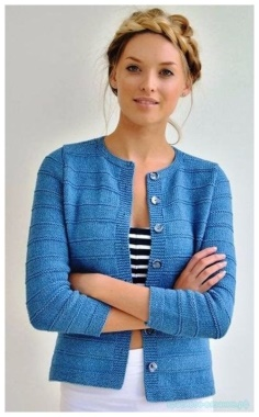 A BEAUTIFUL STYLISH JACKET WITH KNITTING NEEDLES