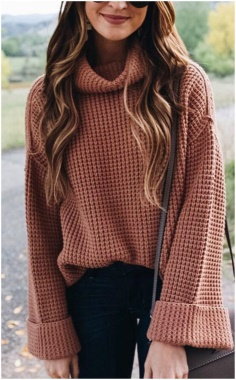 EASY  WAFFLE SWEATER