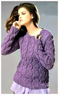 ELEGANT PULLOVER WITH SPECTACULAR PATTERNS