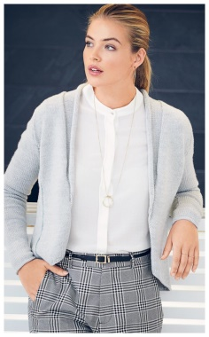 A LAID BACK GRAY SHAWL COLLAR JACKET