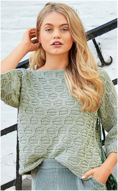ONE PIECE KNIT SWEATER WITH LOOPS REMOVED