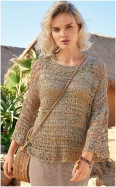 BROWN HOLE SWEATER
