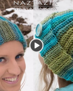 How to Crochet Messy Bun Hat
