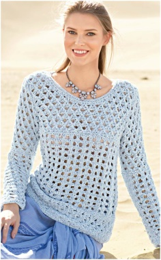 BLUE PATTERNED KNITTED SUMMER