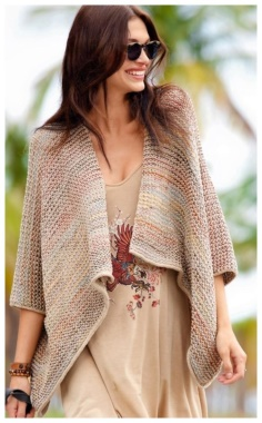 MULTI COLORED PONCHO JACKET  PRACTICAL