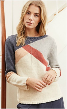 COLOURFUL ASYMMETRIC PULLOVER