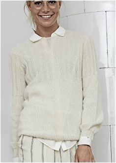 KNITTED SWEATER WITH ELASTIC TOP