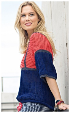 COMFORTABLE AND STYLISH JUMPER WITH A TOP TIED ACROSS