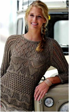 PULLOVER WITH OPENWORK PATTERNS