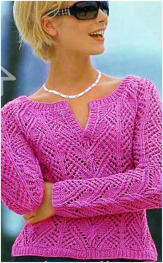 STYLISH SWEATER WITH SPECIAL KNITTING PATTERN