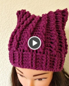 Crochet hat adult female lady tutorial