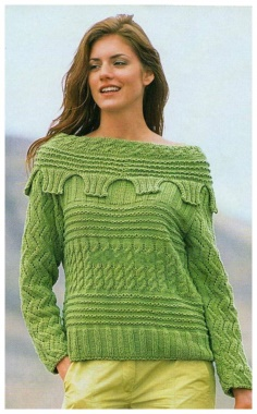 PULLOVER WITH EMBOSSED PATTERN