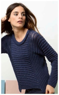 SILVER BLUE KNITTING JUMPER FEMALE