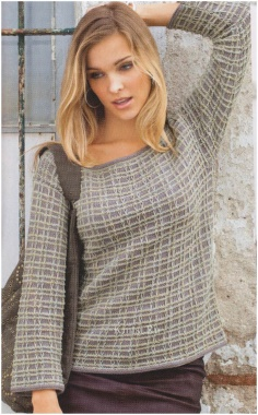 PULLOVER WITH A PATTERN SWEATER