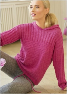 PINK SWEATER FOR A SPORTY LADY