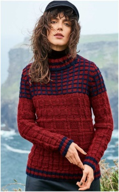 CHECK YOKE SWEATER PATTERN