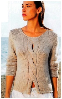 PULLOVER WITH A SCYTHE IN THE CENTER