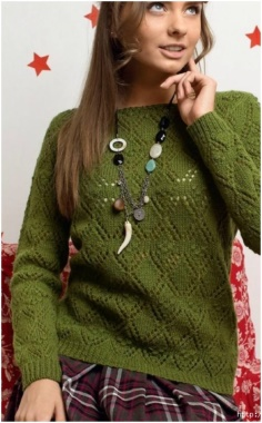 KNITTED OLIVE PULLOVER SWEATER