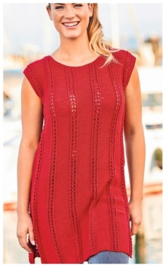 TUNIC WITH A NECKLINE ON THE BACK