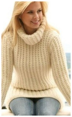WHITE LAPEL SWEATER