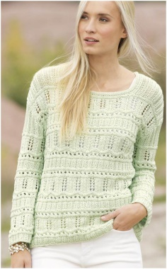 MIND GREEN BOTTLE KNITTED SWEATER