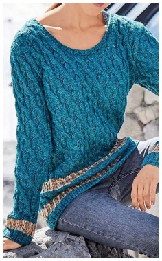 PULLOVER WITH A MELANGE EFFECT