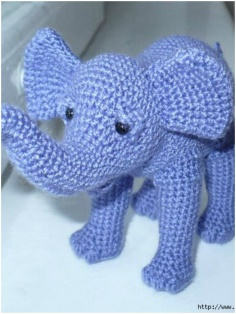 KNITTED BABY ELEPHANT
