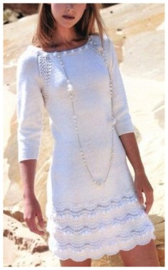 WHITE KNITTING DRESS