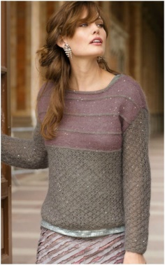 TWO TONE PULLOVER KNITTING