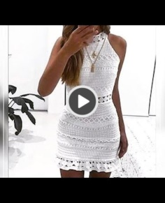 Very elegant crochet dress