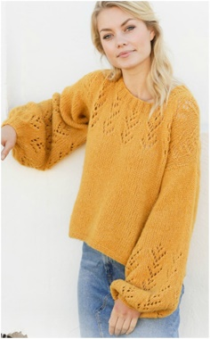 YELLOW WIDE ARM SWEATER