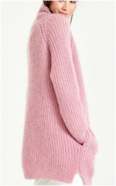 ELONGATED PINK SWEATER