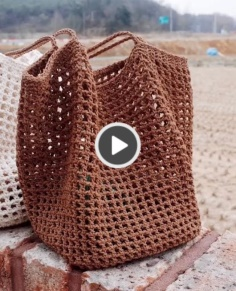 How to make popular crochet bags